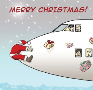 TW163 – Merry Christmas Card Aeroplane Crash